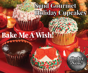 holiday cupcake delivery, send holiday #cupcakes, Bake Me A Wish