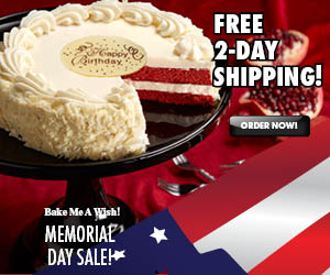 Bake Me  A Wish, Free Shipping, Memorial Day Sale