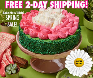 Bake Me  A Wish, Free Shipping, Spring Special