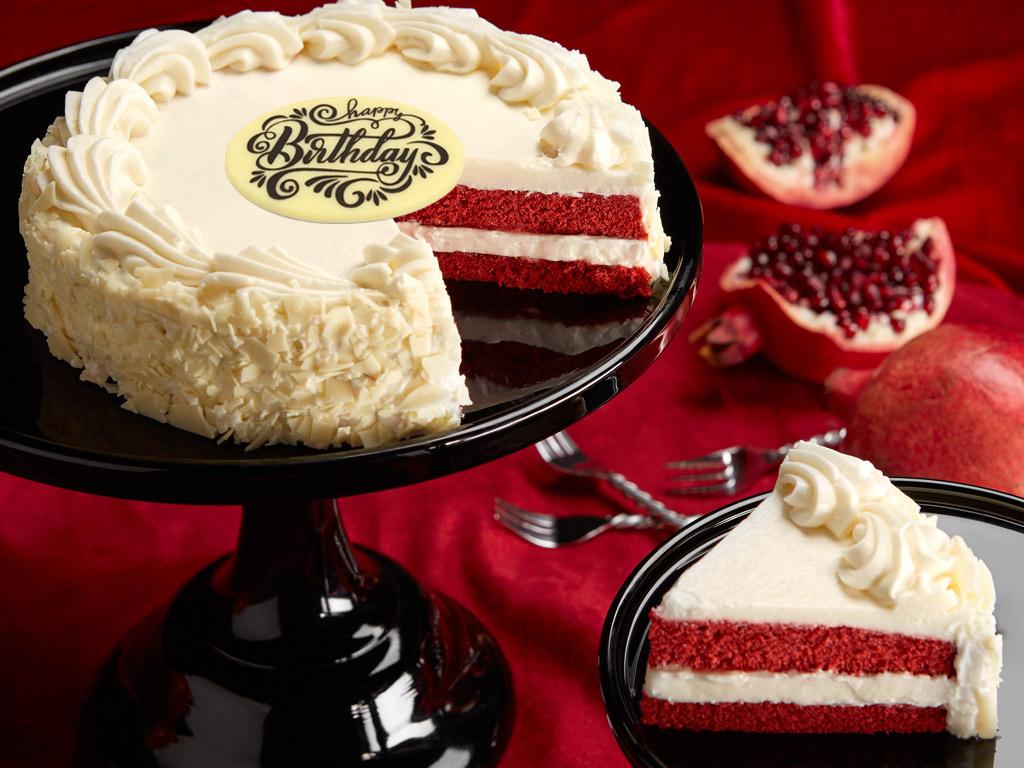 Happy Birthday Red Velvet Chocolate Cake