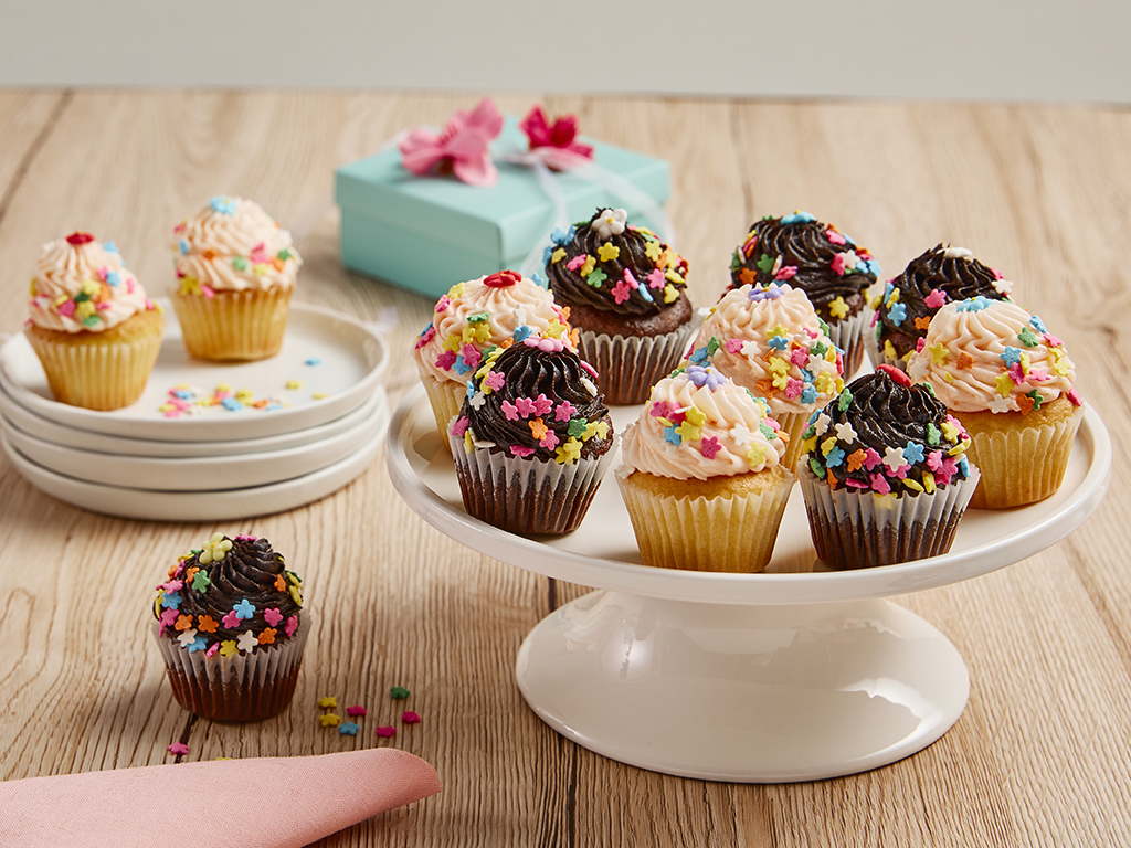 Bake me a wish mini springtime cupcake bouquet delivery mini springtime cupcake bouquet delivery izmirmasajfo