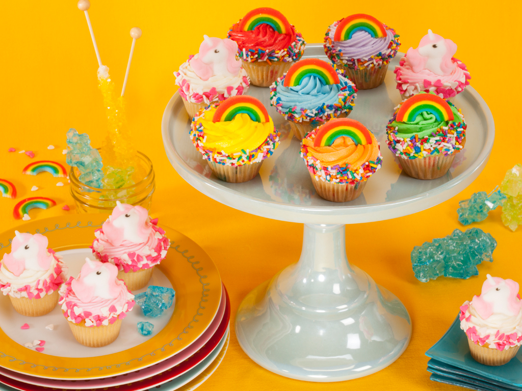 Mini Rainbows And Unicorns Cupcakes Delivery