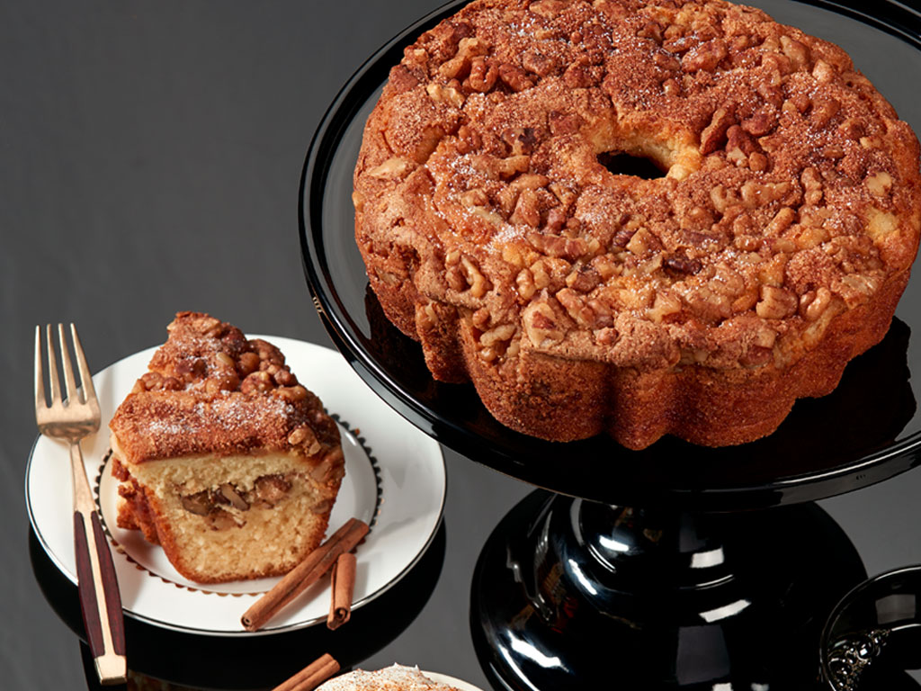 Bake Me A Wish Viennese Coffee Cake Cinnamon And Walnuts Delivery