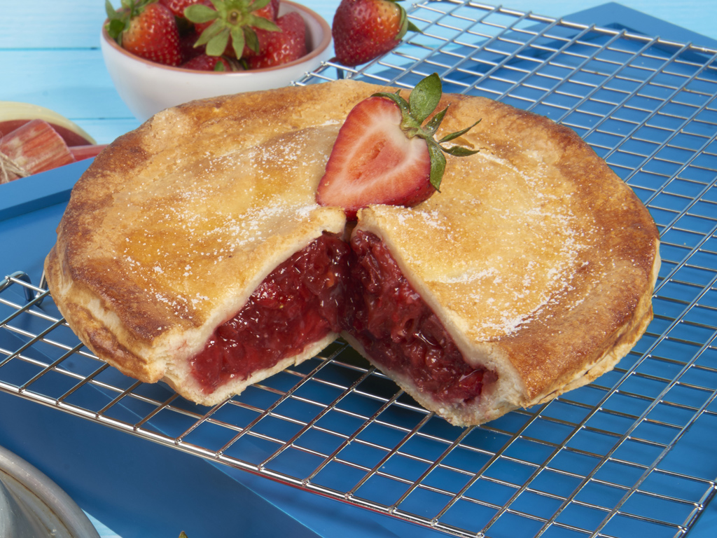 Sweet Strawberry Rhubarb Pie Delivery - Bake Me a Wish!