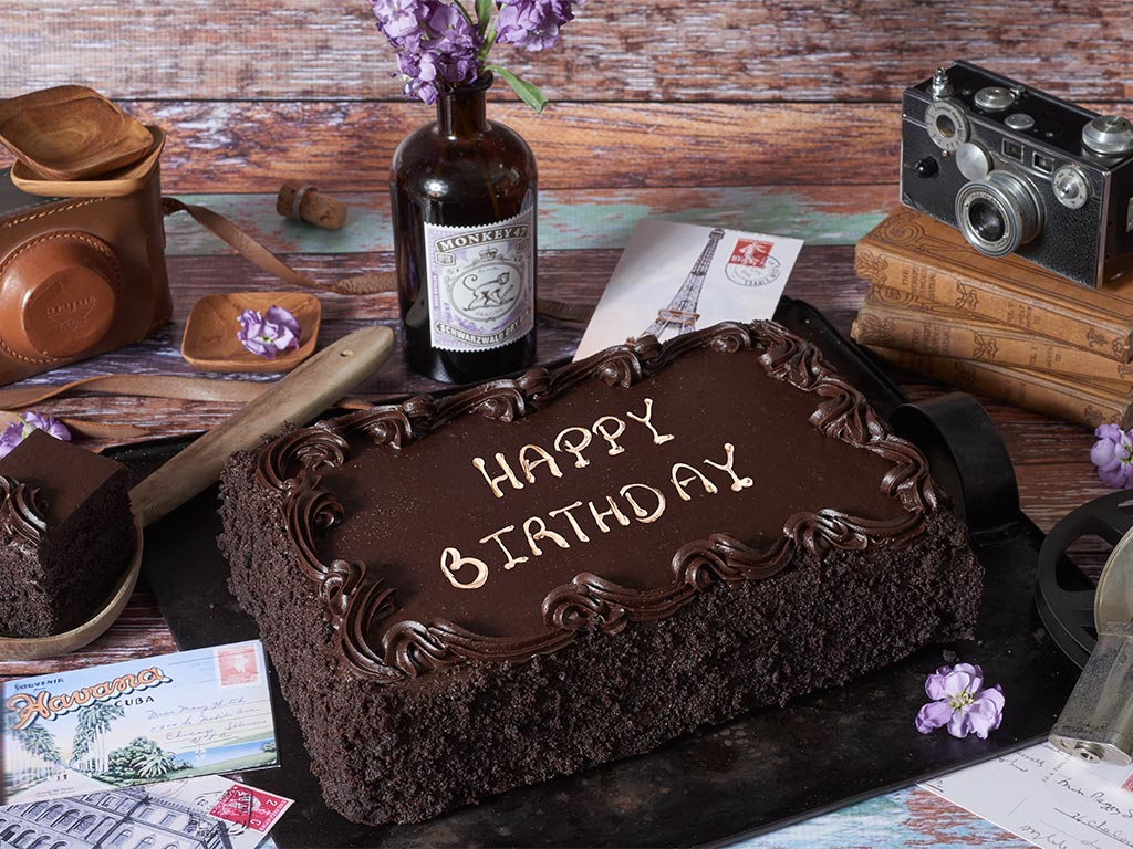 COLOSSAL Chocolate Happy Birthday Sheet Cake