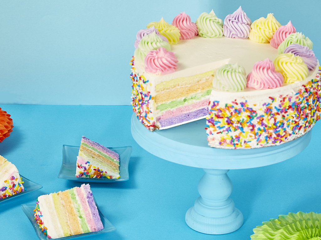 Bake Me A Wish Rainbow Cake Delivery