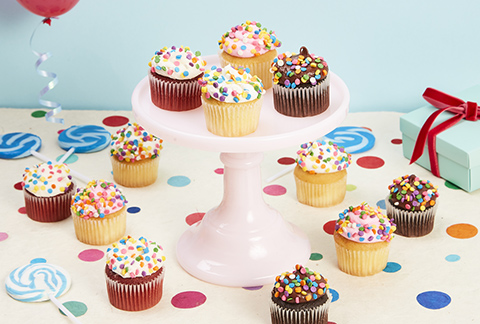 CRUMBS Mini Birthday Cupcakes