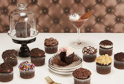 CRUMBS Mini Chocolate Lovers Cupcakes