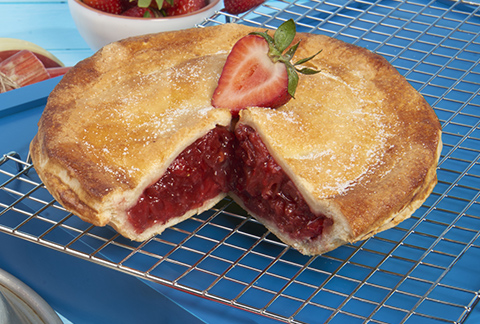 Sweet Strawberry Rhubarb Pie