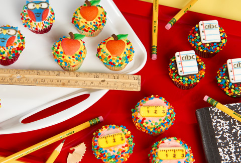 CRUMBS Mini Back to School Cupcakes