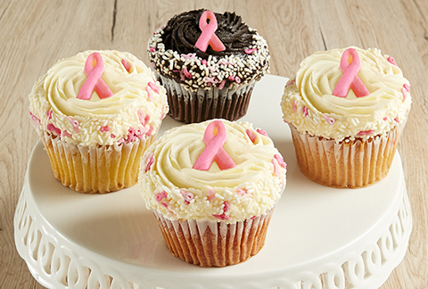 CRUMBS Signature  Breast Cancer Awareness Cupcakes!