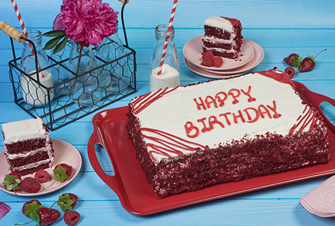 COLOSSAL Red Velvet Sheet Cake