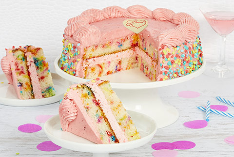 Strawberry Funfetti Cake