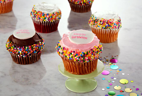 JUMBO Gourmet Cupcakes - Assorted 4-Pack