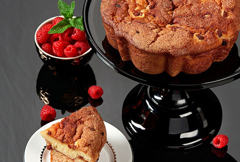 Viennese Coffee Cake - Raspberry