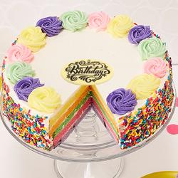10-inch Rainbow Cake