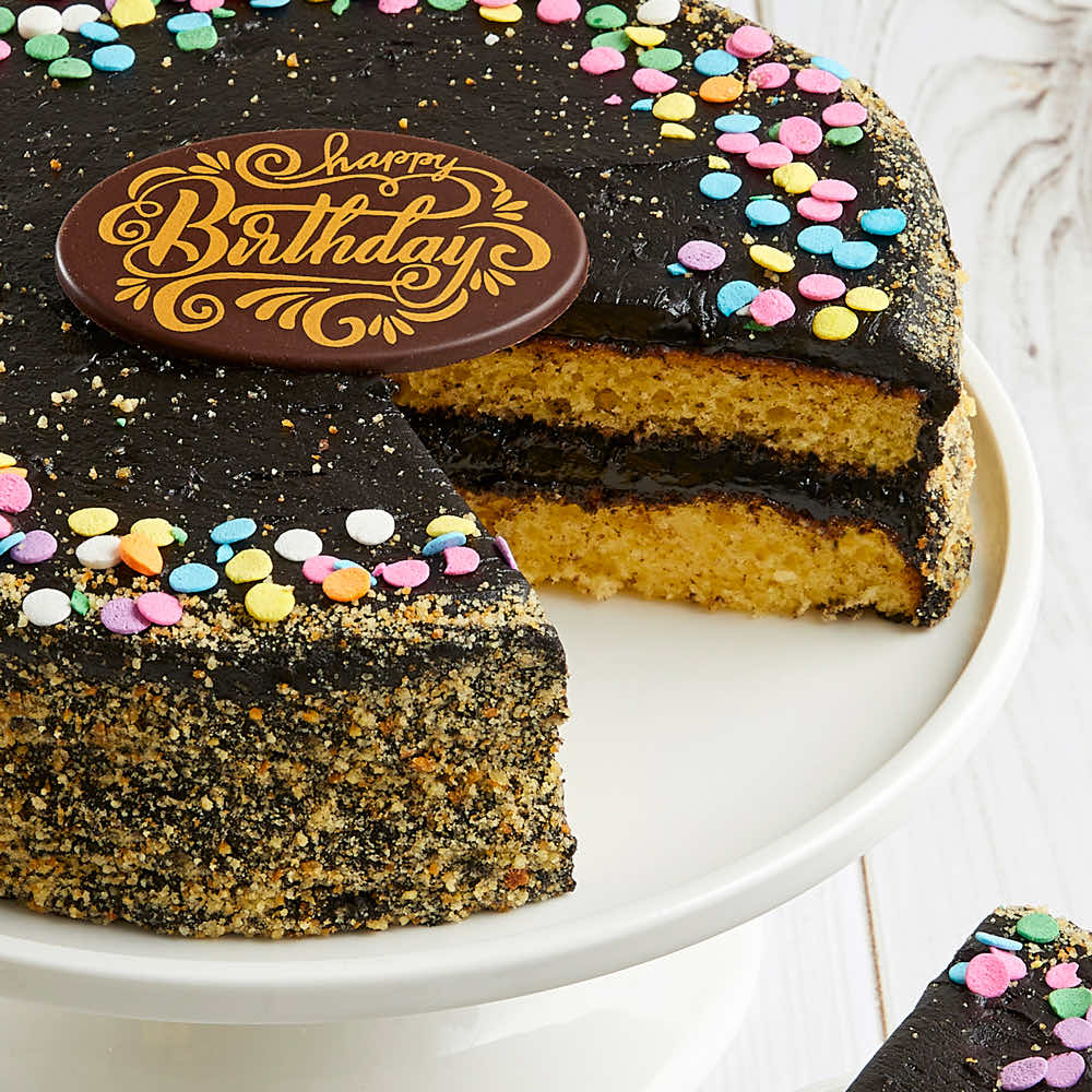 Golden Fudge Celebration Cake