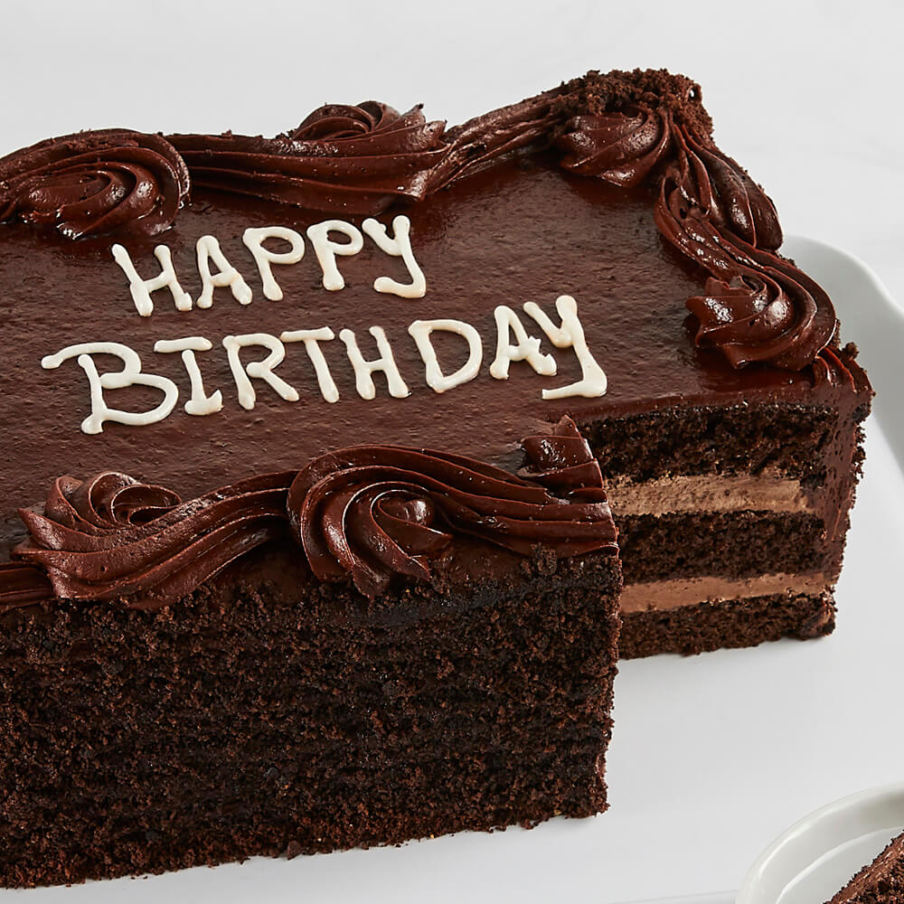 Astounding Colossal Chocolate Happy Birthday Sheet Cake Delivered Personalised Birthday Cards Veneteletsinfo