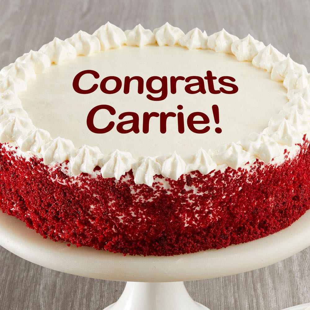 Personalized Red Velvet Chocolate Cake