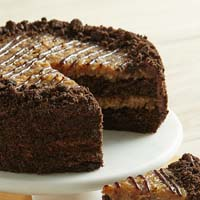 Zoomed in Image of German Chocolate Cake