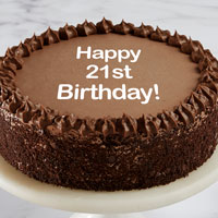 Happy 21st Birthday Double Chocolate Cake close-up view image selector