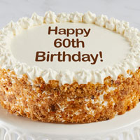 Zoomed in Image of Happy 60th Birthday Carrot Cake