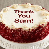 Personalized 10-inch Red Velvet Cake