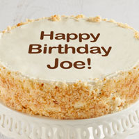 Zoomed in Image of Personalized 10-inch Vanilla Cake