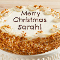 Zoomed in Image of Personalized 10-inch Carrot Cake