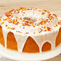 Zoomed in Image of Autumn Harvest Cake