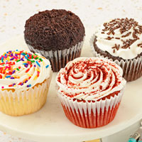 Zoomed in Image of Gluten-Free Jumbo Assorted Cupcakes