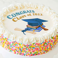 Zoomed in Image of Class of 2021 Cake