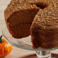 Zoomed in Image of Viennese Coffee Cake - Pumpkin