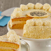 Zoomed in Image of Vanilla Bean Cake