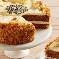 Zoomed in Image of Carrot Cake