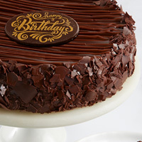 Triple Chocolate Enrobed Brownie Cake close-up view image selector