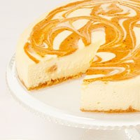 Zoomed in Image of Pumpkin Cheesecake