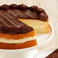 Zoomed in Image of Boston Cream Cake