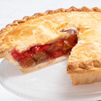 Zoomed in Image of Strawberry Pie
