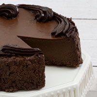 Zoomed in Image of Flourless Chocolate Cake
