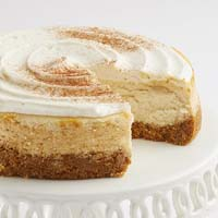 Zoomed in Image of Eggnog Cheesecake