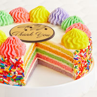 Zoomed in Image of Rainbow Cake