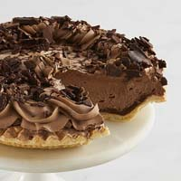 Zoomed in Image of Chocolate Mousse Pie