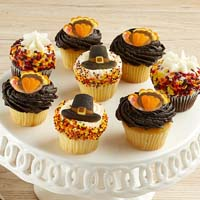 Mini Thanksgiving Cupcakes