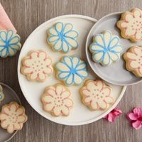 Zoomed in Image of Flower Cookies