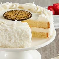 Zoomed in Image of Coconut Cream Cake