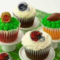 Zoomed in Image of BIG GAME! Cupcakes for Feb 2nd
