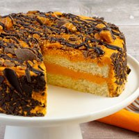 Zoomed in Image of Butterfinger Candy Cake