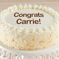 Personalized Vanilla Cake