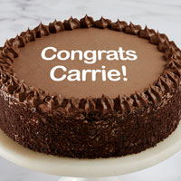 Zoomed in Image of Personalized Double Chocolate Cake